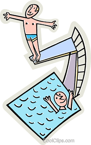 swimmingpool mit sprungbrett vektor clipart bild vc015555. Black Bedroom Furniture Sets. Home Design Ideas