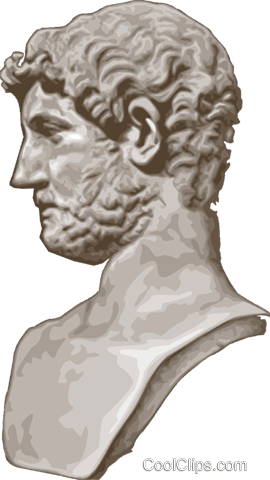 Emperor Caracalla Rome Royalty Free Vector Clip Art illustration vc015647