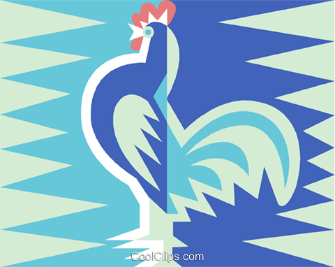 rooster symbol Royalty Free Vector Clip Art illustration vc015693