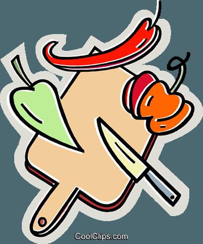 Schneidebrett clipart  Paprika mit einem Schneidebrett und Messer Vektor Clipart Bild ...