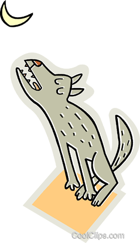 Wolves Royalty Free Vector Clip Art illustration vc015738