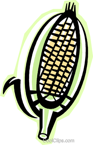 cob of corn Royalty Free Vector Clip Art illustration vc015790