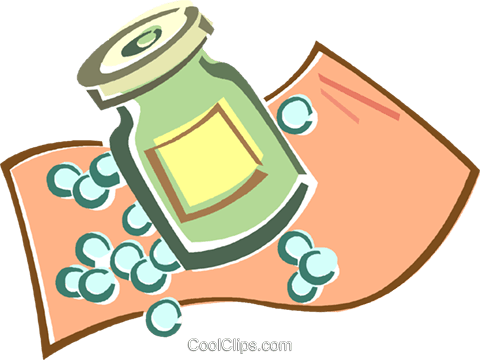 pill bottle Royalty Free Vector Clip Art illustration vc015951
