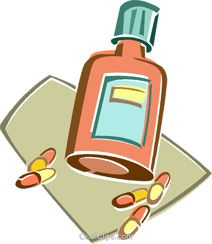 pill bottle Royalty Free Vector Clip Art illustration vc015952