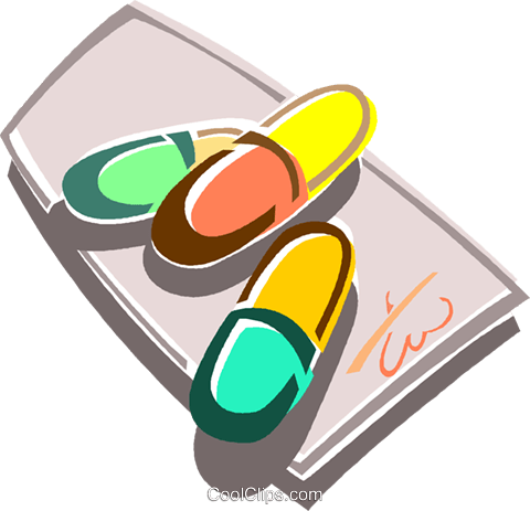 pills Royalty Free Vector Clip Art illustration vc015953