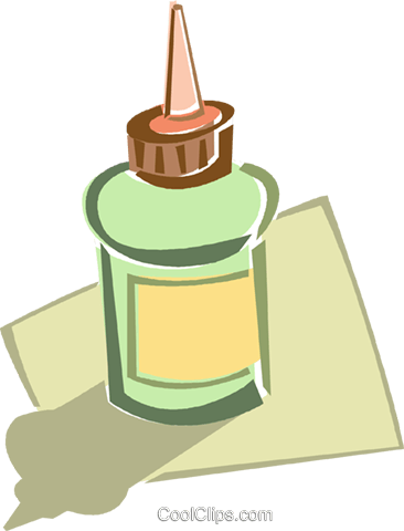 glue bottle Royalty Free Vector Clip Art illustration vc015957