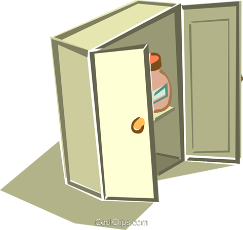 Closet Royalty Free Vector Clip Art Illustration Vc015958