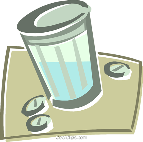 pill container Royalty Free Vector Clip Art illustration vc015964