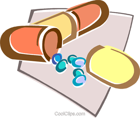 pills Royalty Free Vector Clip Art illustration vc015965