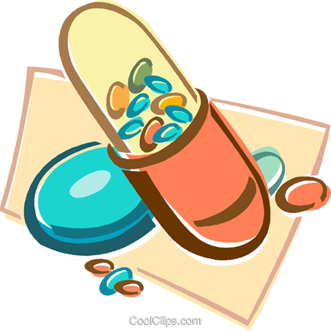 pill, capsule Royalty Free Vector Clip Art illustration vc015973