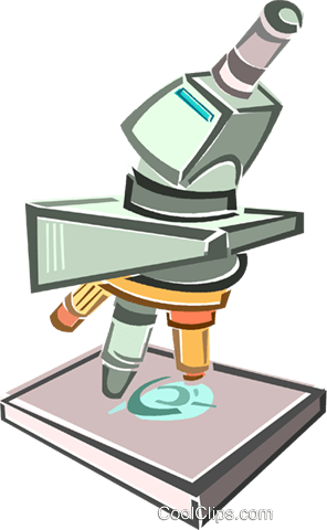 microscope Royalty Free Vector Clip Art illustration vc015980