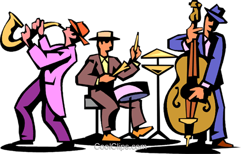 jazz trio of musicians royalty free vector clip art illustration rh search coolclips com clipart jazz band clipart jazz gratuit