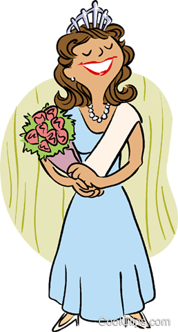 beauty queen Royalty Free Vector Clip Art illustration vc016003