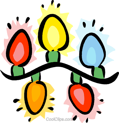 Christmas lights Royalty Free Vector Clip Art illustration vc016079