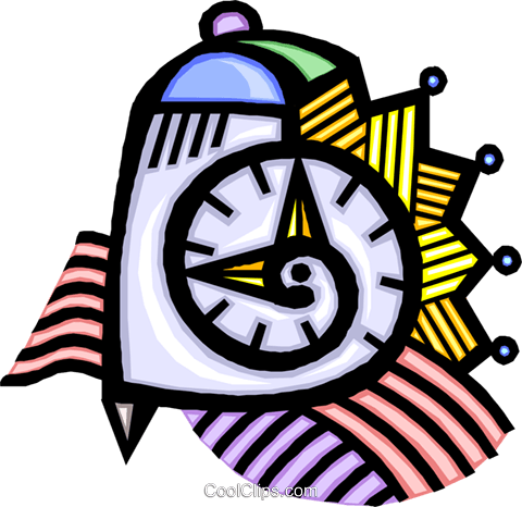 time concept Royalty Free Vector Clip Art illustration vc016136