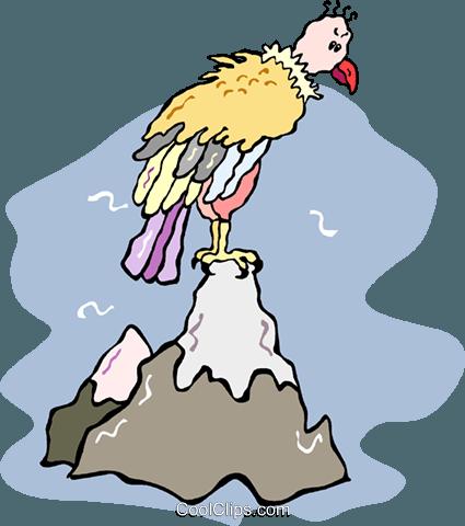 buzzard sitting on a mountain royalty free vector clip art rh search coolclips com buzzard clip art free