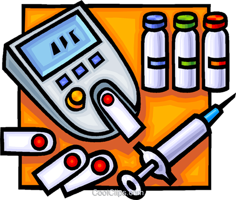 Needle and blood test Royalty Free Vector Clip Art illustration vc016539