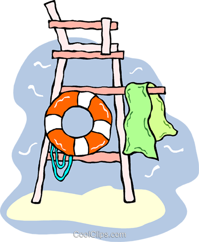 lifeguard tower with life preserver royalty free vector clip art rh search coolclips com