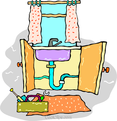 Tremendous Plumbing Problem With The Kitchen Sink Royalty Free Vector Home Interior And Landscaping Spoatsignezvosmurscom