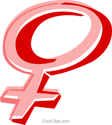 Female Symbol Royalty Free Vector Clip Art Illustration Vc016846