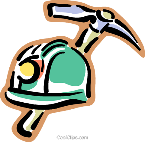 mineurs casque avec une pioche vecteurs de stock et clip art vectoriel vc016881. Black Bedroom Furniture Sets. Home Design Ideas