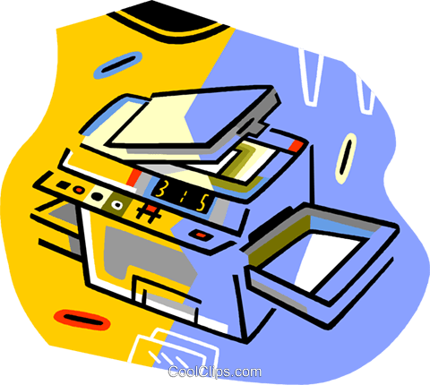 photo copy machine Royalty Free Vector Clip Art illustration vc017247