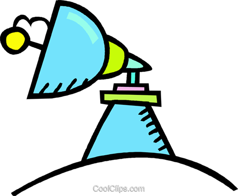 satellite dish Royalty Free Vector Clip Art illustration vc017302