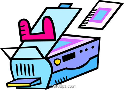 photocopier Royalty Free Vector Clip Art illustration vc017335