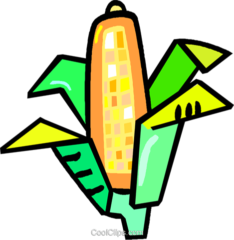 corn on the cob Royalty Free Vector Clip Art illustration vc017410
