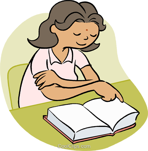 little girl reading a book royalty free vector clip art illustration rh search coolclips com Reading Books Clip Art Bookworm Clip Art