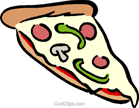 pizza slice Royalty Free Vector Clip Art illustration vc017636