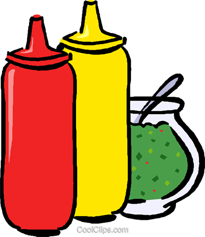 condiments Royalty Free Vector Clip Art illustration vc017637