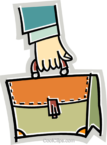 Briefcases Royalty Free Vector Clip Art illustration vc017771