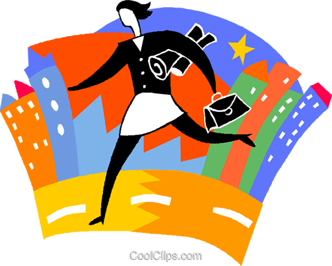 Woman Running Late For Work Royalty Free Vector Clip Art