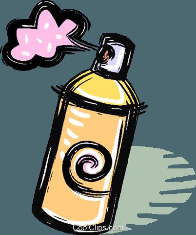 Aerosol spray clipart
