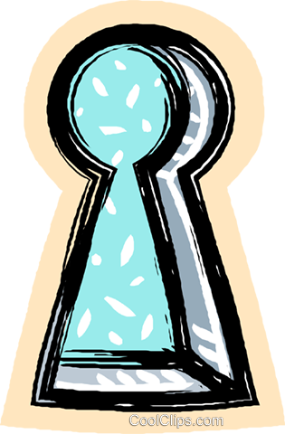 key hole Royalty Free Vector Clip Art illustration vc017974