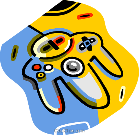 video game controller Royalty Free Vector Clip Art illustration vc018047
