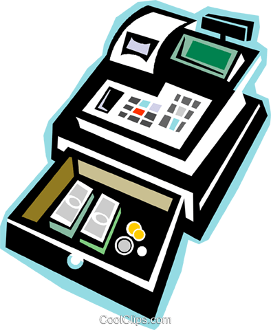 cash register Royalty Free Vector Clip Art illustration vc018068
