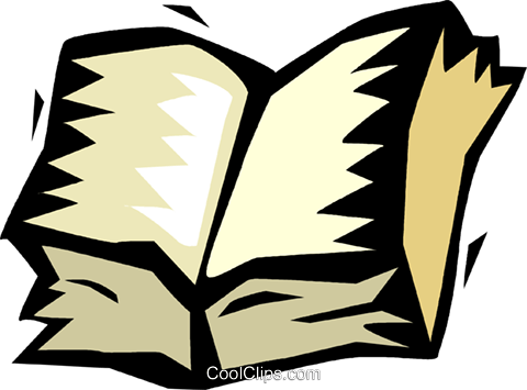 open book Royalty Free Vector Clip Art illustration vc018214