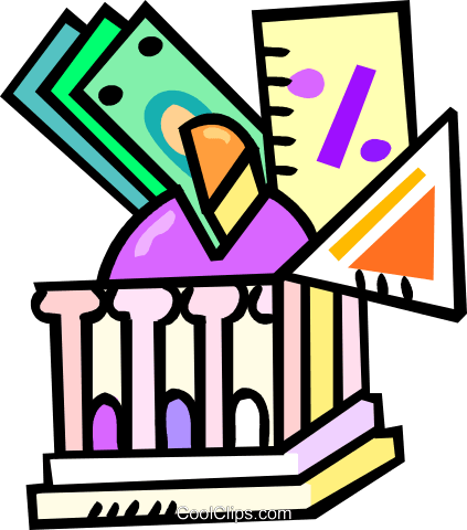 investing your money Royalty Free Vector Clip Art illustration vc018250