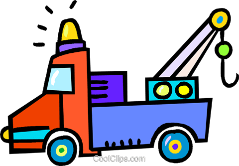 tow truck Royalty Free Vector Clip Art illustration vc018274