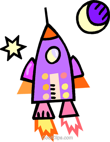 rocket ship Royalty Free Vector Clip Art illustration vc018309