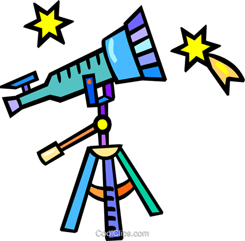 telescope Royalty Free Vector Clip Art illustration vc018310