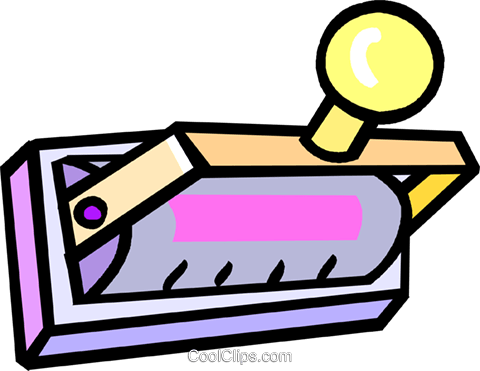 rubber stamps Royalty Free Vector Clip Art illustration vc018316