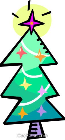 Christmas tree Royalty Free Vector Clip Art illustration vc018353