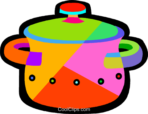 cooking pots Royalty Free Vector Clip Art illustration vc018442