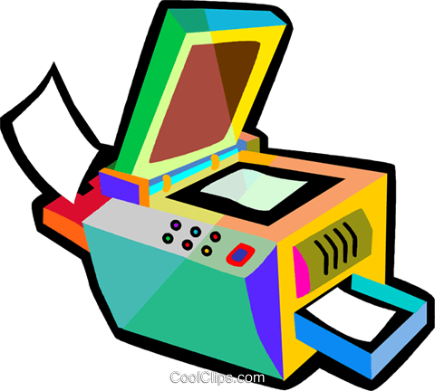 photocopy machine Royalty Free Vector Clip Art illustration vc018467