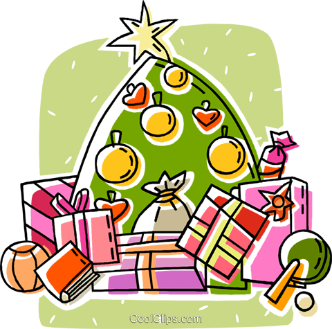 weihnachtsbaum und geschenke vektor clipart bild vc018632. Black Bedroom Furniture Sets. Home Design Ideas
