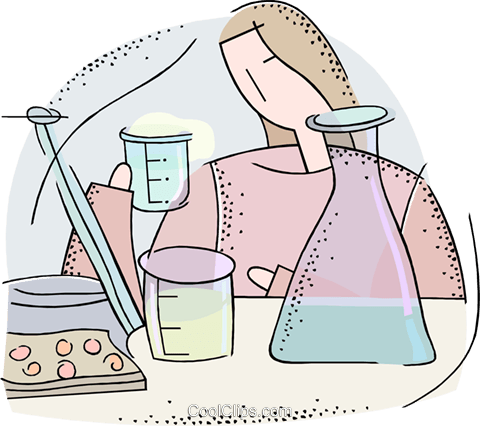 science beakers Royalty Free Vector Clip Art illustration vc018727