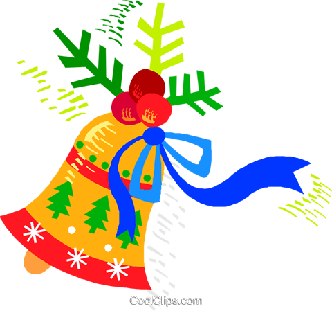 Decorative Christmas bell Royalty Free Vector Clip Art illustration vc018742